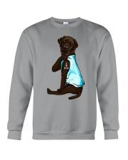 Chocolate Labrador I Love Mom Tattoo Crewneck Sweatshirt thumbnail