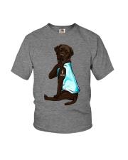Chocolate Labrador I Love Mom Tattoo Youth T-Shirt thumbnail