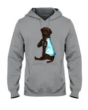 Chocolate Labrador I Love Mom Tattoo Hooded Sweatshirt thumbnail
