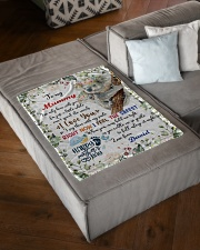 """To My Mummy I've Only Been With You Koala Blanket Small Fleece Blanket - 30"""" x 40"""" aos-coral-fleece-blanket-30x40-lifestyle-front-03"""