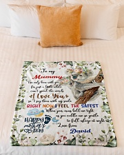 """To My Mummy I've Only Been With You Koala Blanket Small Fleece Blanket - 30"""" x 40"""" aos-coral-fleece-blanket-30x40-lifestyle-front-04"""