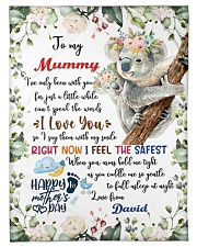 """To My Mummy I've Only Been With You Koala Blanket Small Fleece Blanket - 30"""" x 40"""" front"""