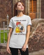 Labrador Balck Living Life In Peace Classic T-Shirt apparel-classic-tshirt-lifestyle-06