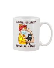Labrador Balck Living Life In Peace Mug thumbnail
