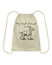 My Best Friend Is A Bull Terrier  Drawstring Bag thumbnail