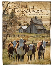 "Cow Together Is My Favorite Place Graphic Design Small Fleece Blanket - 30"" x 40"" front"