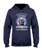 Cat Any Man Can Be A Father Hooded Sweatshirt thumbnail