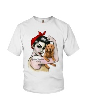 Golden Retriever Lady Youth T-Shirt thumbnail
