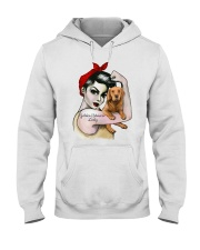 Golden Retriever Lady Hooded Sweatshirt thumbnail
