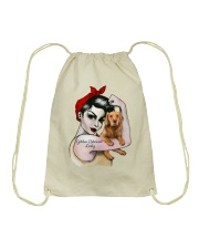 Golden Retriever Lady Drawstring Bag thumbnail