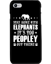 Stay Home With Elephants Phone Case thumbnail