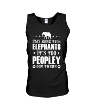 Stay Home With Elephants Unisex Tank thumbnail