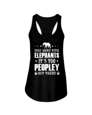 Stay Home With Elephants Ladies Flowy Tank thumbnail