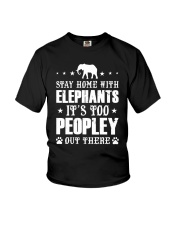Stay Home With Elephants Youth T-Shirt thumbnail