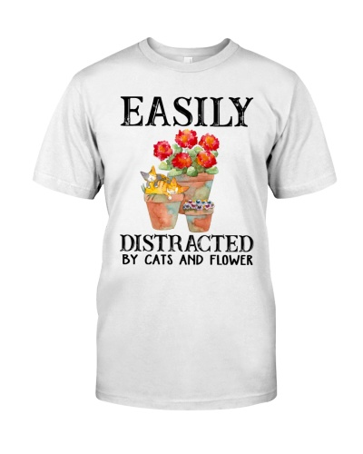Cats Easily Distracted By Cats And Flower