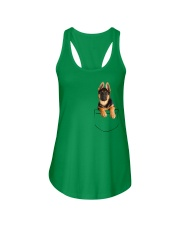 German Shepherd Pocket Ladies Flowy Tank thumbnail