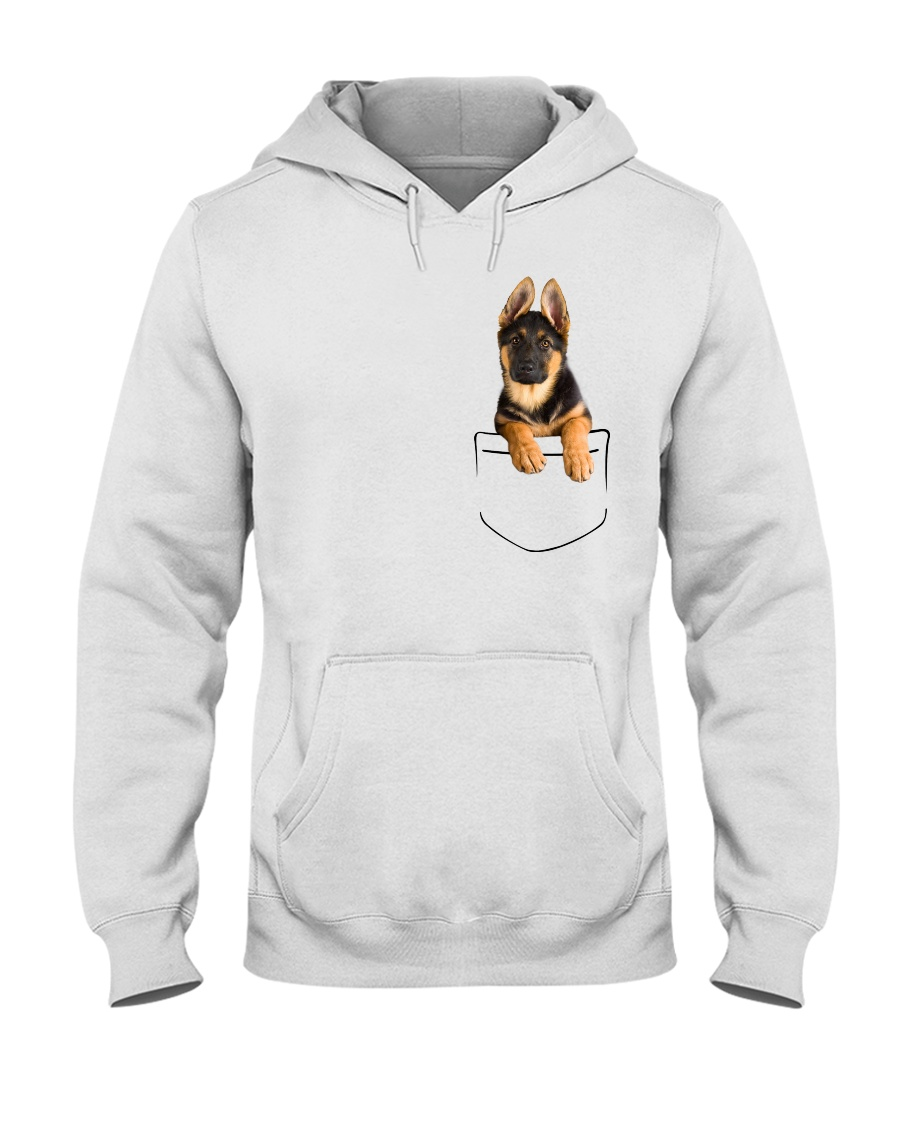German Shepherd Pocket Hooded Sweatshirt