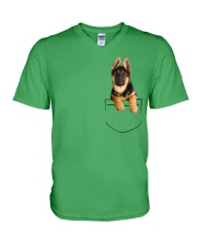 German Shepherd Pocket V-Neck T-Shirt thumbnail