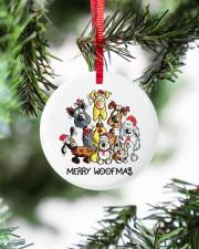 Dog Merry Woofmas Circle ornament - single (porcelain) aos-circle-ornament-single-porcelain-lifestyles-07