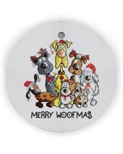 Dog Merry Woofmas Circle ornament - single (wood) thumbnail