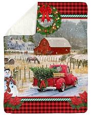 "HORSE CHRISTMAS BLANKET Large Sherpa Fleece Blanket - 60"" x 80"" thumbnail"
