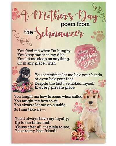 Schnauzer A Mother Day Poem