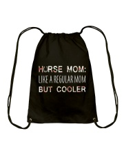 Horse Mom Like A Regular Mom  Drawstring Bag tile