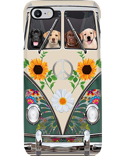 Labrador Hippie Bus Phonecase