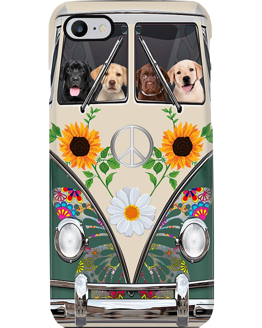 Labrador Hippie Bus Phonecase Phone Case
