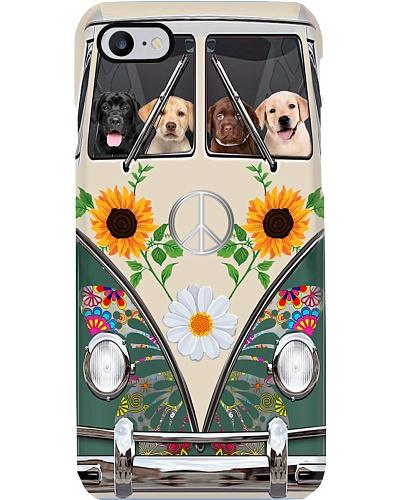 Labrador Hippie Bus Phonecase