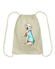 Labrador I Love Mom Tattoo Drawstring Bag thumbnail