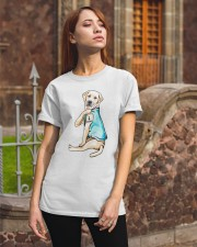 Labrador I Love Mom Tattoo Classic T-Shirt apparel-classic-tshirt-lifestyle-06