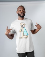 Labrador I Love Mom Tattoo Classic T-Shirt apparel-classic-tshirt-lifestyle-front-32