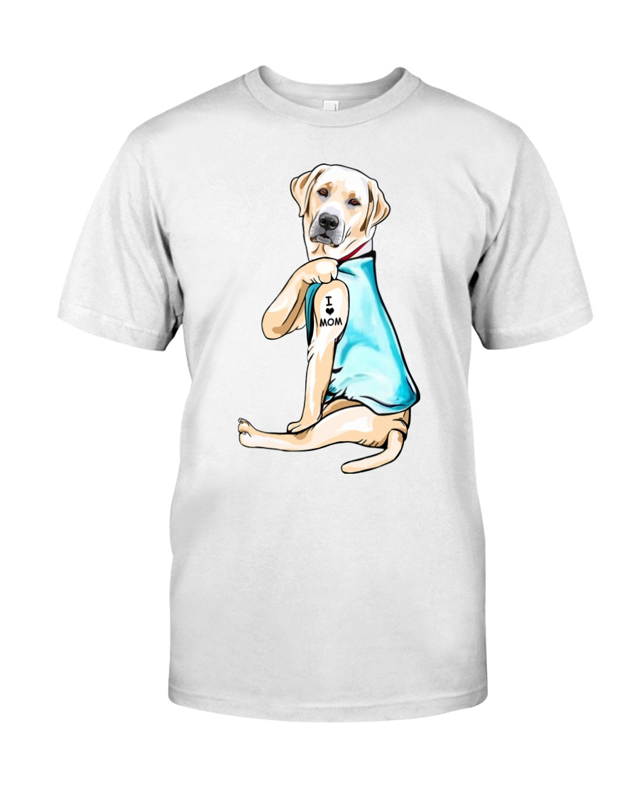 Labrador I Love Mom Tattoo Classic T-Shirt