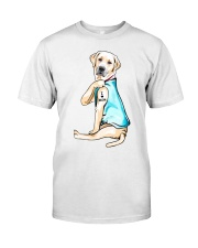 Labrador I Love Mom Tattoo Classic T-Shirt front