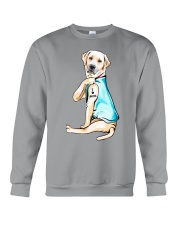 Labrador I Love Mom Tattoo Crewneck Sweatshirt thumbnail