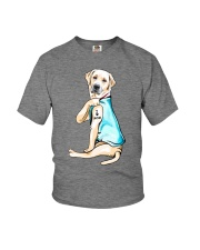 Labrador I Love Mom Tattoo Youth T-Shirt thumbnail