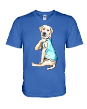 Labrador I Love Mom Tattoo V-Neck T-Shirt thumbnail