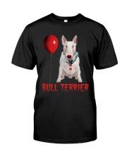 Bull Terrier Horror Halloween Classic T-Shirt front