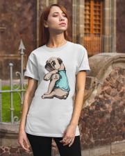 Pug I Love Mom Classic T-Shirt apparel-classic-tshirt-lifestyle-06