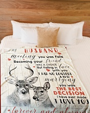 "Deer Wife To My Husband Graphic Design Large Fleece Blanket - 60"" x 80"" aos-coral-fleece-blanket-60x80-lifestyle-front-02"