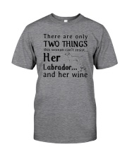 Her Labrador And Her Wine Classic T-Shirt front