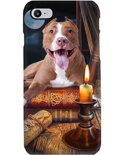 Pitbull Dog And Books