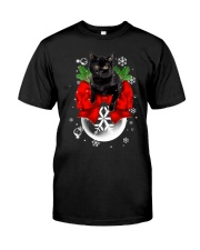 Cat Christmas Classic T-Shirt front