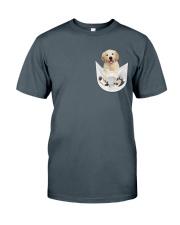Golden Retriever Inside Pocket  Classic T-Shirt thumbnail