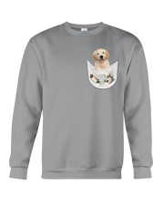 Golden Retriever Inside Pocket  Crewneck Sweatshirt thumbnail