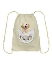 Golden Retriever Inside Pocket  Drawstring Bag thumbnail