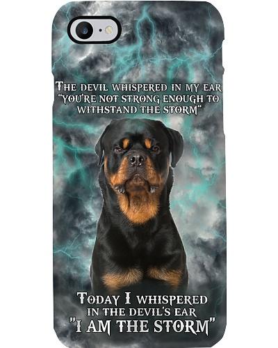 Rottweiler Storm Phonecase