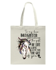 Horse To My Daughter Tote Bag thumbnail