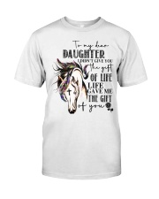 Horse To My Daughter Classic T-Shirt front